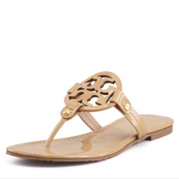 ff48ab00e3443f Tory Burch Nude Patent Miller Sandal Size 7.5. M 5a57e7a045b30cc096000103